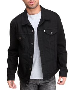 newest 992e4 617f8 levis black denim jacket - Google Search Black Denim, Black And Brown,  Dress To