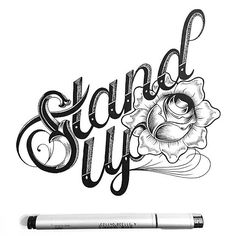 Stand up by @draw_ul #betype  #typography #lettering #design