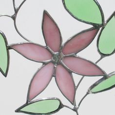 Clematis+Flower+and+Leaves+Stained+Glass+by+FiveSparrows+on+Etsy,+$25.00