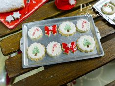 Christmas Cookies on Baking Sheet B 12th by ParisMiniatures