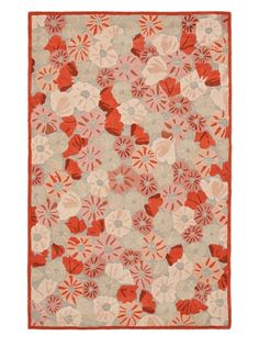 www.myhabit.com  Conjuring vistas of oriental poppies stretching as far as the eye can see, this artfully hand-knotted design features intricate cut-pile blossoms on a loop-pile background