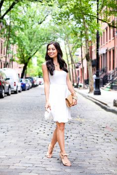 Little White Dress  Kat- is fabulous I love the simplicity of the dress shoes and this clutch