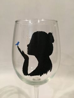This hand painted wine glass is perfect for a girls night hostess gift or birthday present. Let your girlfriend know youre thinking of her with