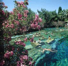 Cleopatra's pool, Pamukkale, Turkey.