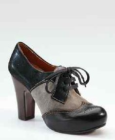 Chie Mihara Leather Oxford Heel