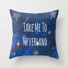 Take Me To Neverland | Galaxy Throw Pillow by Sarah Hinds - $20.00