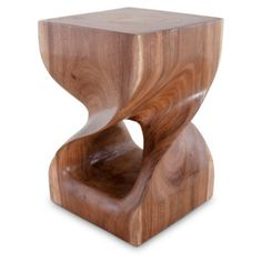 Check out this item at One Kings Lane! Twist Wood Stool