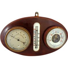 German Barometer Thermometer Hygrometer Painted ENAMEL c1920s from Premier-Antiques .