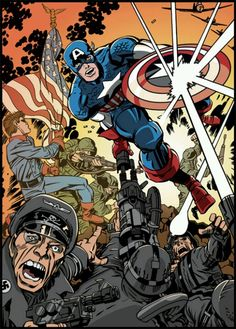 "CAPTAIN AMERICA & BUCKY by •""Jolly"" Jack Kirby"