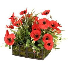 I pinned this Faux Poppies Arrangement from the Out of the Woodwork event at Joss and Main!