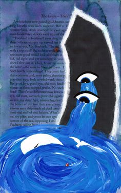Matt Kish, page 543 in a series of Moby Dick drawings