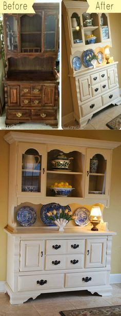 Craigslist Hutch Makeover With Chalk Paint