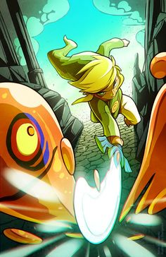 Toon Link on a mission by Justin Vu.