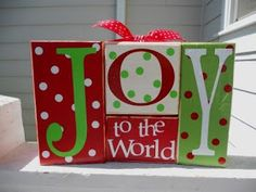 SUPER SATURDAY CRAFT KITS: Joy To The World Blocks