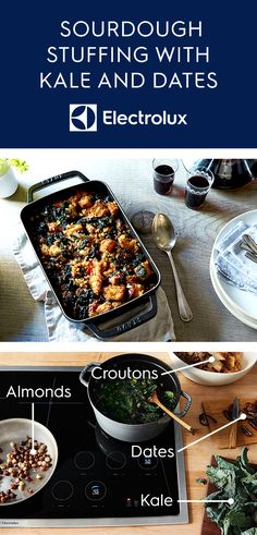 Try this new take on Thanksgiving stuffing from Electrolux and @food52. Dates, kale, sourdough croutons and chiles de arbol are just a few of the ingredients that give this traditional dish a unique upgrade for the holidays. Click for the full recipe.