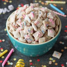 Inspired Image of Pictures Of Birthday Cake . Pictures Of Birthday Cake Birthday Cake Muddy Buddies Recipe Chex Recipes Chex Chex Mix Recipes, Candy Recipes, Snack Recipes, Healthy Recipes, Birthday Cake Flavors, Birthday Snacks, Classroom Birthday, Cake Birthday, Birthday Parties