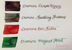 Ink Shot Preview Diamine Shimmer Inks (3)