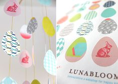 Easter egg mobile tutorial with free printable- good site- printed & made bunting 4 easter!(mary)