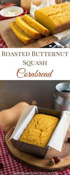 Roasted Butternut Squash Cornbread   thecinnamonscrolls.com @cinnamonscribe