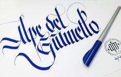 Alpe del Giumello. Titolo per locandina. © 2014 alberto manzella. Tutti i diritti riservati. #albertomanzella #calligrafia #gotico #alpegiumello #giumello #calligraphy