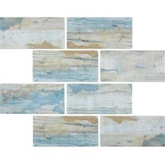 Glass Subway Tile Wood Antique Blue for kitchen backsplash, bathroom, shower, swimming pool, and spas. This bark wood-look mosaic tile is made of recycled glass and have a mesh backing for an easy installation. Glass Pool Tile, Glass Subway Tile, Glass Mosaic Tiles, Pool Tiles, Pool Mosaics, Coastal Colors, Coastal Decor, Creta, Ideas