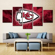 Kansas City Chiefs Modular Picture Poster Home Decor Wall – Best Funny Store