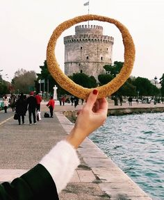 This delicious Greek bread ring covered with toasted sesame seeds (Koulouri Thessalonikis) is definitely one of the most popular street food you may find in and around (Photo credit: Greek. Mein Land, Places In Greece, Athens Greece, Greece Thessaloniki, Europe Travel Tips, Macedonia, Greece Travel, Greek Islands, Travel Inspiration