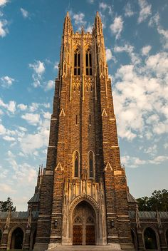 Duke University Chapel Canvas Print / Canvas Art by Gene Hilton