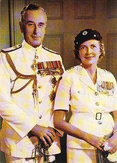 Lord and Lady Mountbatten, 1947