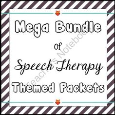 Speech Therapy Themed Packets Bundle from Speechy Musings on TeachersNotebook.com (227 pages)  - A money saving bundle filled with seasonal speech therapy packets!