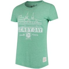 0ce9786e 143rd Kentucky Derby Original Retro Brand Women's Derby Day Vintage  Tri-Blend T-Shirt - Green