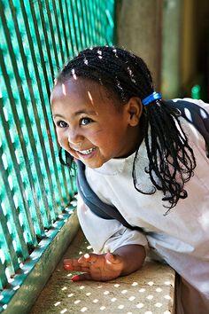 smiling girl in Eritrea