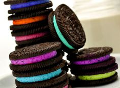 Cool party idea: neon oreos. fun for a birthday!!!!!!!!!!!!!!