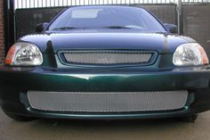H1115-10S Honda Civic Silver MX Grille Upper & Lower Insert Combo Kit Grillcraft #Grillcraft #ChromeTrim