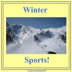 """Get your students excited about the upcoming winter sporting events. This resource includes: -""""winter sports"""" acrostic -""""winter sports"""". Hello Teacher, Best Teacher, Teacher Tools, Teacher Resources, Classroom Tools, Classroom Activities, Creative Teaching, Teaching Tips, Childhood Education"""
