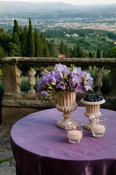 overlooking the Italian countryside ~ Ana Rosa Siena Toscana, Purple Table Settings, Beautiful World, Beautiful Places, Ar Fresco, Emilia Romagna, Under The Tuscan Sun, Places In Italy, Jolie Photo