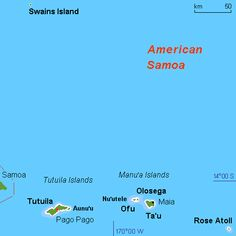 Map of American Samoa