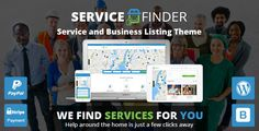 Service Finder - Service and Business Listing WordPress Theme (Directory & Listings) Download   http://w7download.com/service-finder-service-and-business-listing-wordpress-theme-directory-listings-download