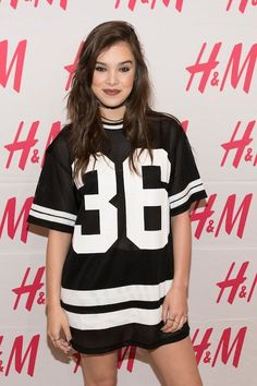 Hailee Steinfeld Knows Exactly What Lipstick to Wear with a Sports Jersey  from InStyle.com