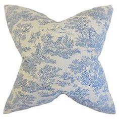 Foile Cushion in Denim Blue