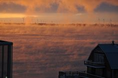 """Sunrise Icefog"" by Hana Stanbury. Kingston, Ontario."