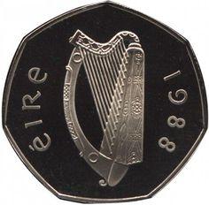 Ireland decimal fifty pence (50p) obverse