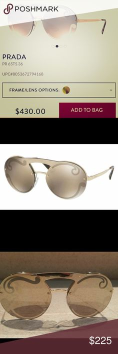 c5aa237bd64 Shop Women s Prada Gold size OS Glasses at a discounted price at Poshmark.  Description  Great condition no wear or scratches. Includes glasses only.