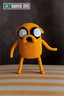 "Amigurumi Pattern of Jake from ""Adventure Time"""