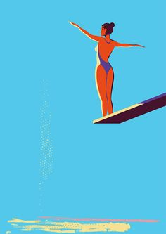 Olympic Diver - giclee print by Marcus Marritt