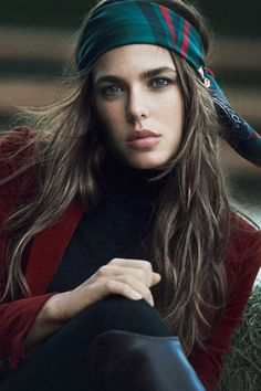 Charlotte Casiraghi. Grace Kelly's beautiful grand daughter looks so much like her mum Caroline.