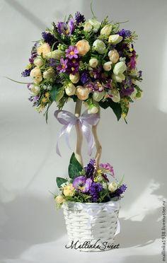 """Купить Топиарий, дерево счастья """"Fiona"""" - фиолетовый, топиарий, топиарий дерево счастья, Топиарии"""