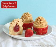 Peanut Butter & Jelly Cupakes