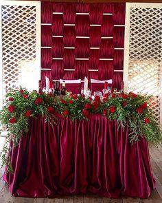 Burgundy woven backdrop