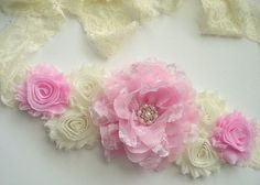Beautiful Chiffon Flower Maternity Sash Belt - Pregnancy Photo Prop - It's A Girl - Pink Ivory Maternity Photo Props, Maternity Sash, Maternity Photos, Baby Shower Mum, Baby Batman, Pregnancy Photos, Baby Photos, Sash Belts, Chiffon Flowers